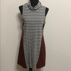 THML suede accent dress